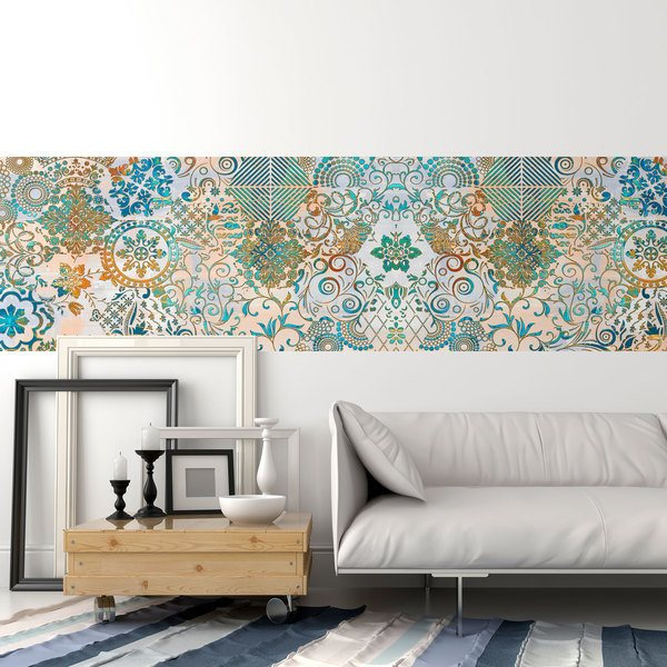 Vinilos Decorativos: Estampado ornamental Pavo real