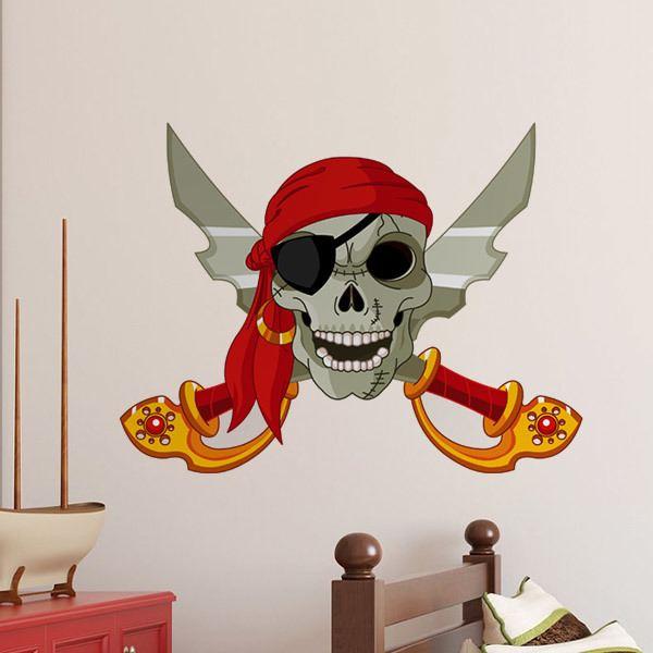Vinilos Decorativos Infantiles De Piratas Teleadhesivo