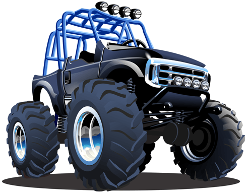 Vinilos Infantiles: Monster Truck Safari