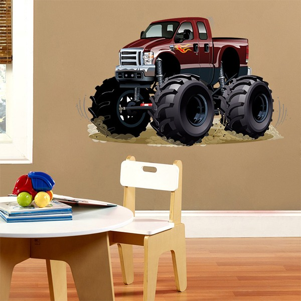 Vinilos Infantiles: Monster Truck granate 1