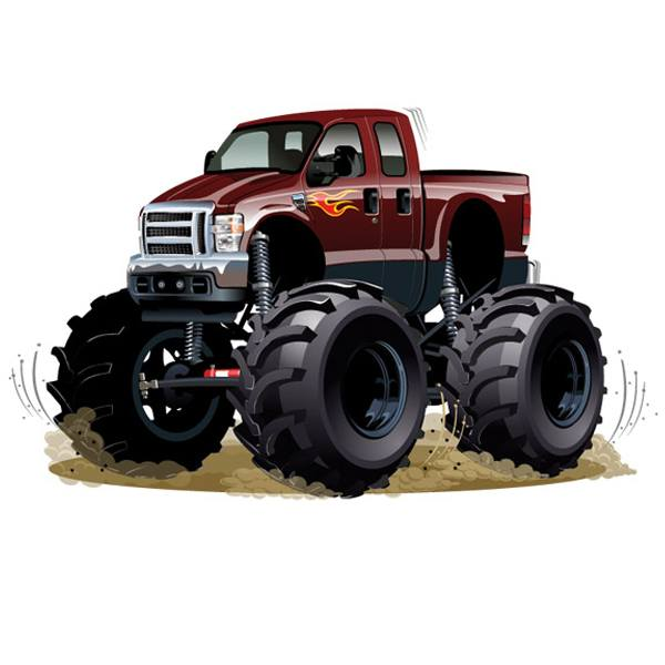 Vinilos Infantiles: Monster Truck granate