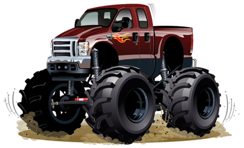 Vinilos Infantiles: Monster Truck granate 0