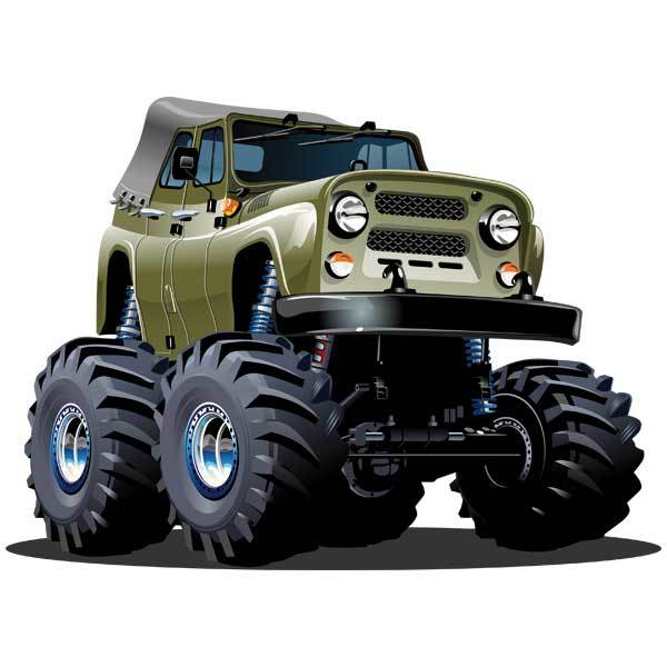 Vinilos Infantiles: Monster Truck Jeep