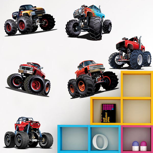 Vinilos Infantiles: Kit de Monster Truck