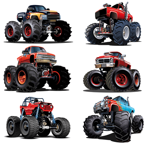 Vinilos Infantiles: Kit Monster Truck