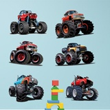 Vinilos Infantiles: Kit Monster Truck 3