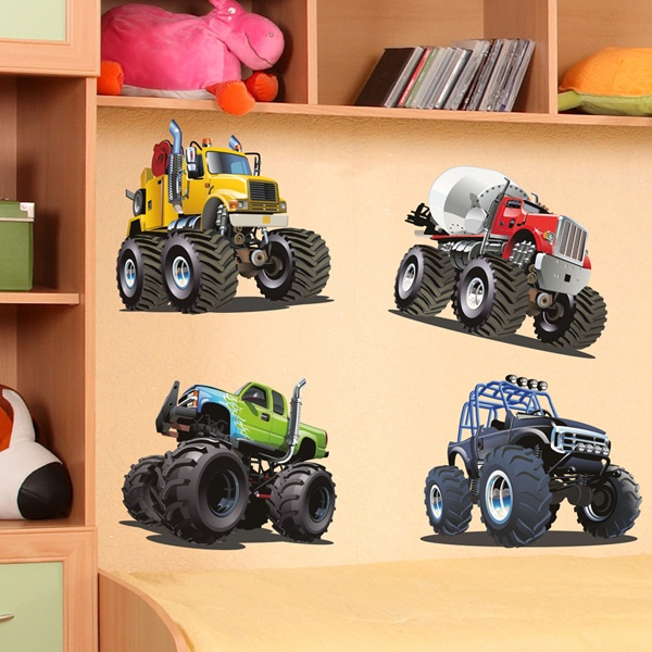 Vinilos Infantiles: Kit Monster Truck Big