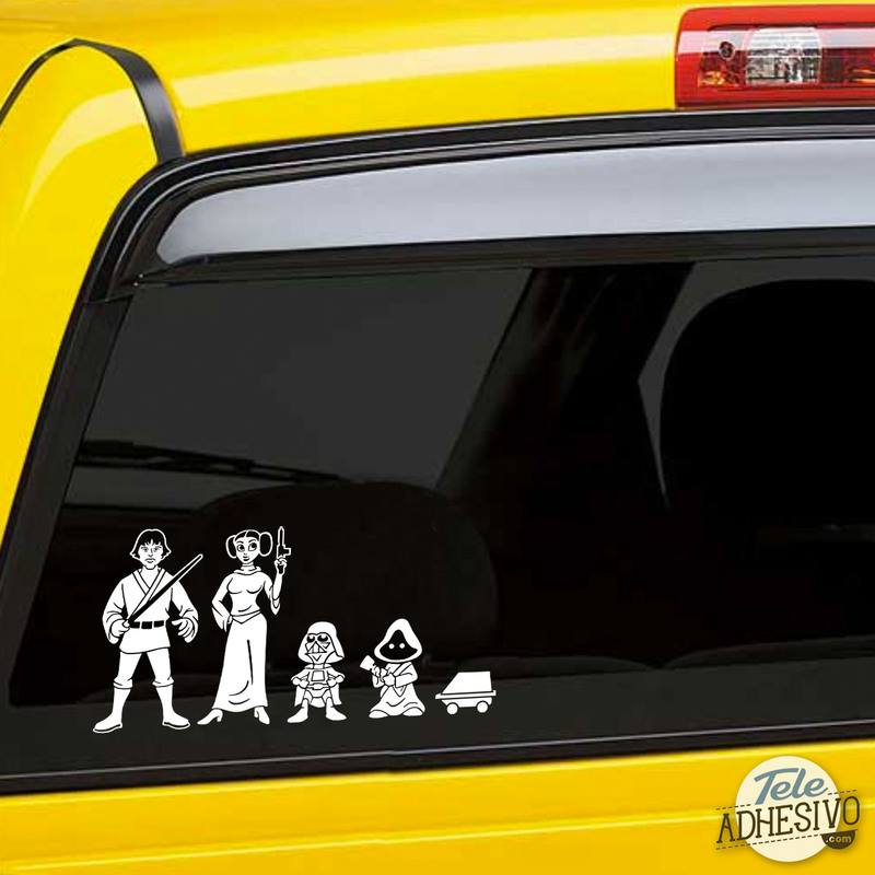 Pegatinas: Padre Luke Skywalker