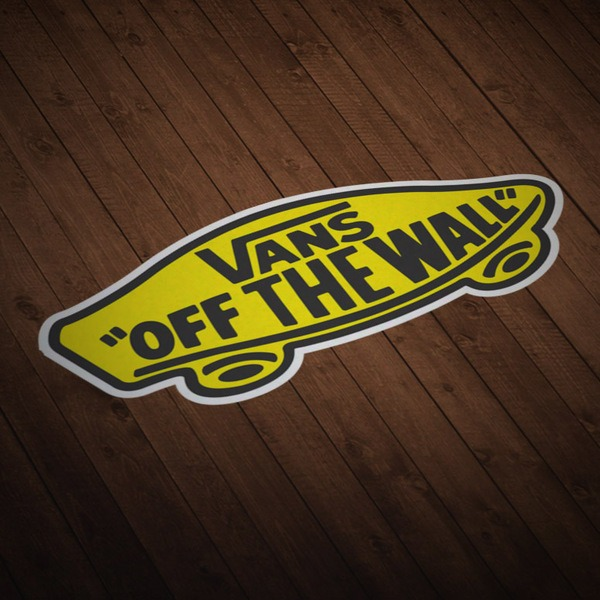 Pegatinas: Vans off the wall amarillo