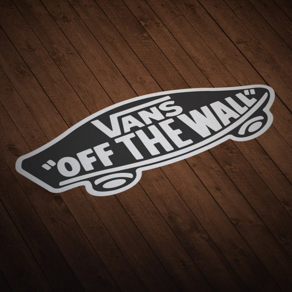 Pegatinas: Vans off the wall negro