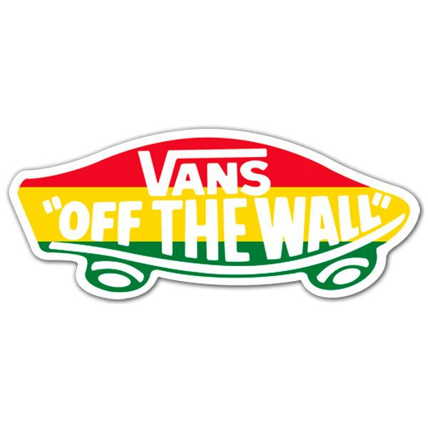 Pegatinas: Vans off the wall Rastafari