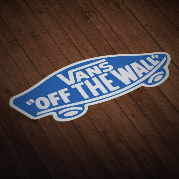 Pegatinas: Vans off the wall azul