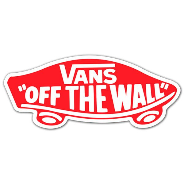 Pegatinas: Vans off the wall rojo