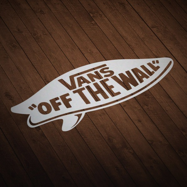 Pegatinas: Vans off the wall surf