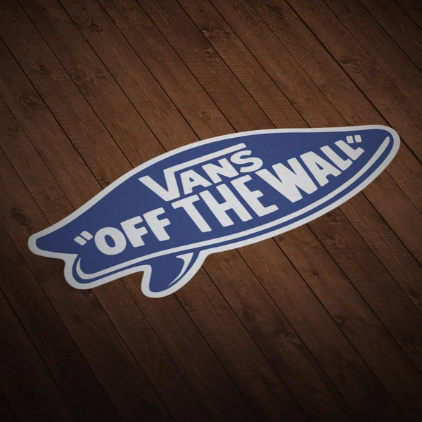 Pegatinas: Vans off the wall surf azul