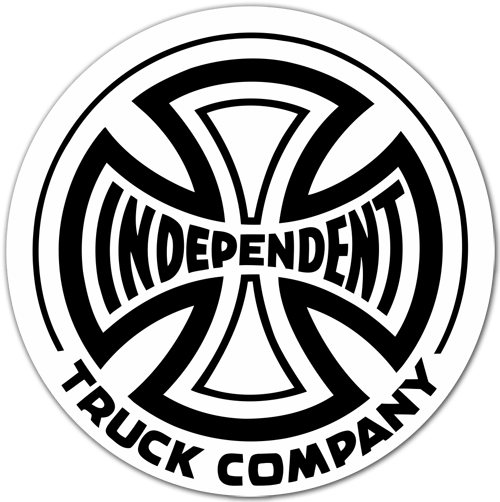 Pegatinas: Independent Truck Company blanco