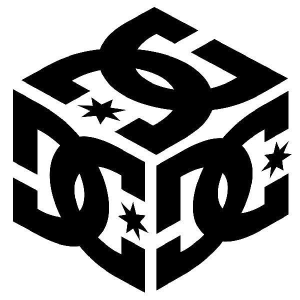 Pegatinas: DC Shoes Cube