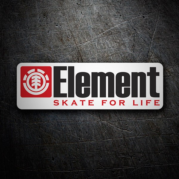 Pegatinas: Element skate for life