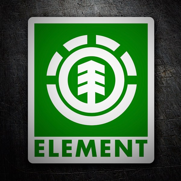 Pegatinas: Element verde