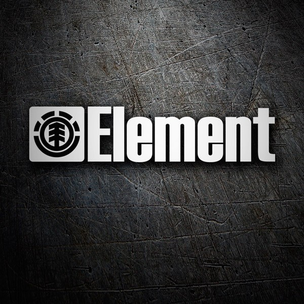 Pegatinas: Element y su logo en horizontal