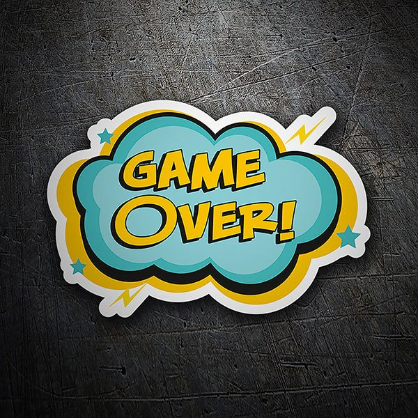 Pegatinas: Game Over