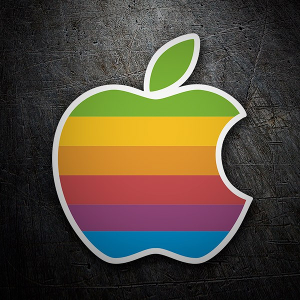Pegatinas: Apple Retro
