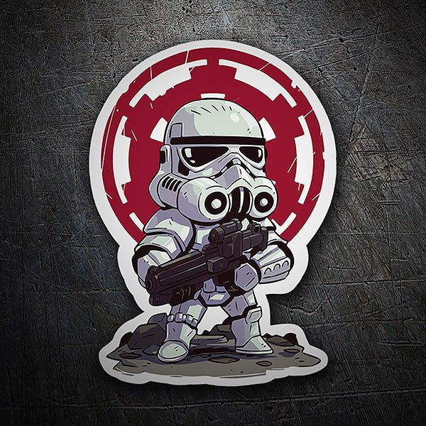 Pegatinas: Stormtrooper cartoon