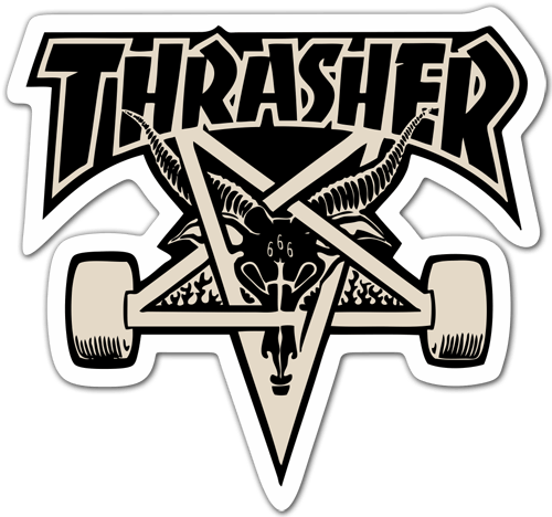 Pegatina Thrasher Skate Teleadhesivo Com