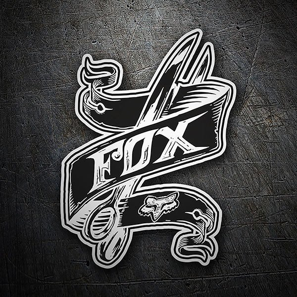 Pegatinas: Fox Racing tattoo con tijeras