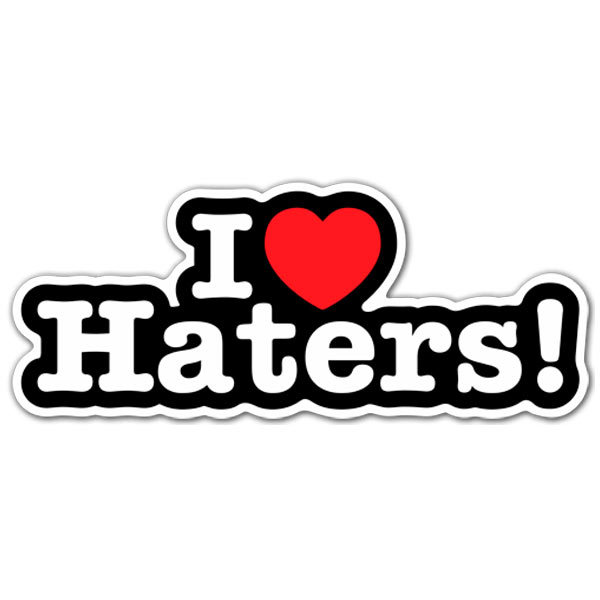 Pegatinas: I love Haters