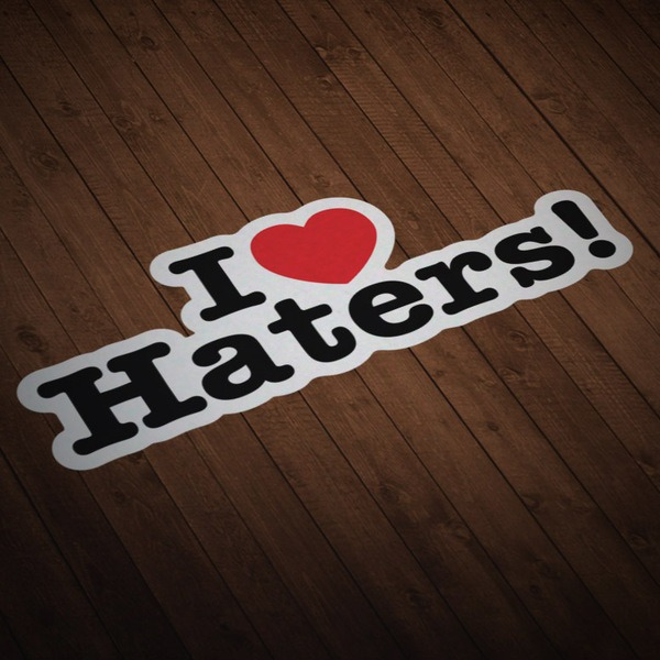 Pegatinas: I love Haters!