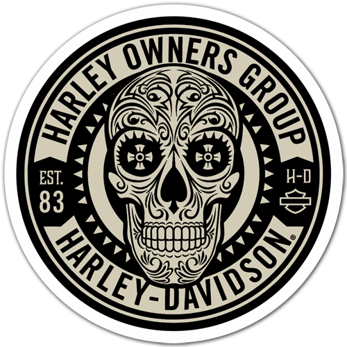 Pegatinas: Harley Owners Group