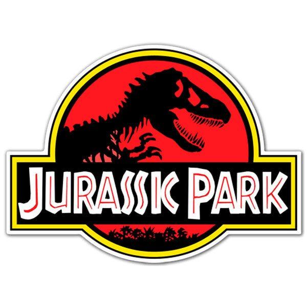 Pegatina Parque Jurásico Logo Teleadhesivocom