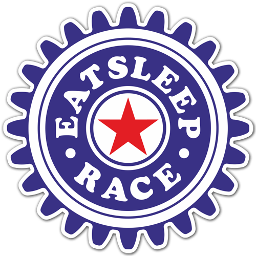 Pegatinas: Eat Sleep and Race