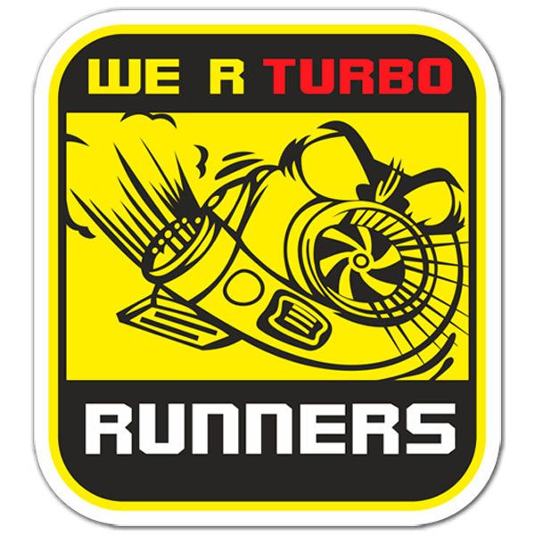 Pegatinas: We are Turbo Runners