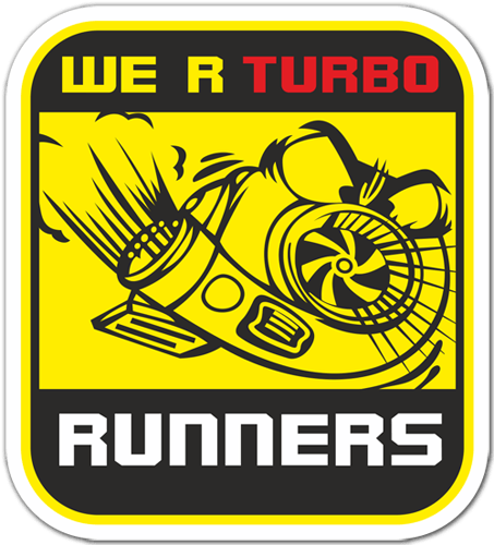 Pegatinas: We are Turbo Runners 0