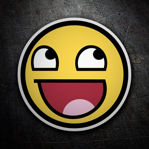 Pegatinas: Meme Smiley 1