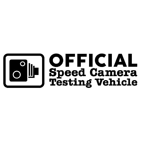 Pegatinas: Official Speed Camera Testing Vehicle