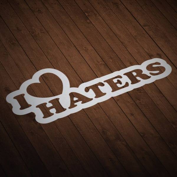 Pegatinas: I love Haters 3