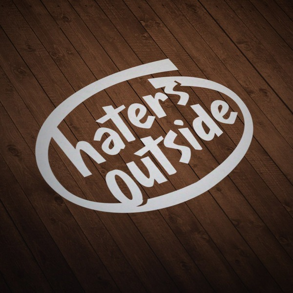 Pegatinas: Haters Outside