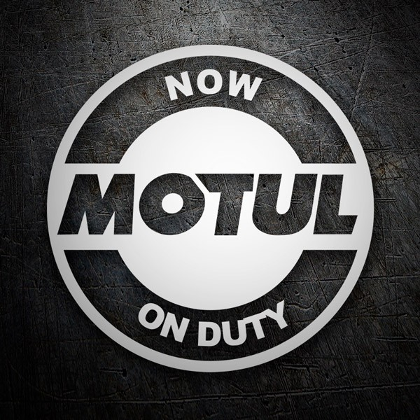 Pegatinas: Now Motul on Duty