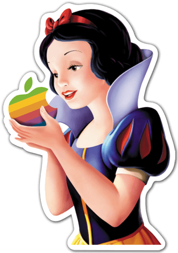 Pegatinas: Blancanieves Apple