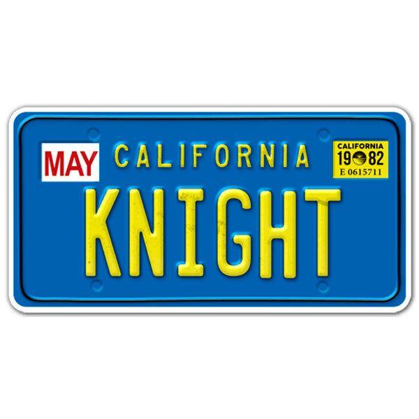Pegatina matr cula coche fant stico knight rider - Matricula coche hoy ...