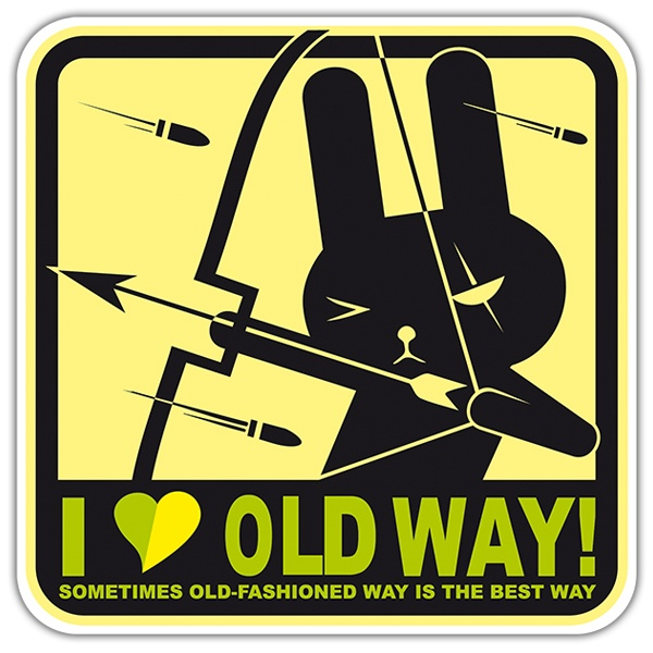 Pegatinas: I love old day