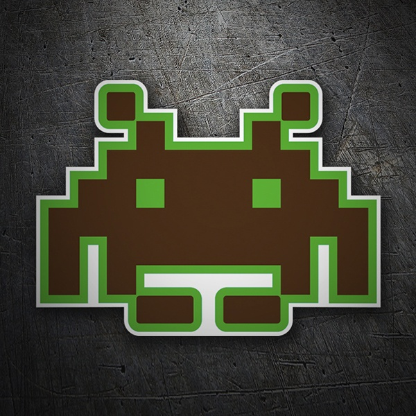 Pegatinas: Marciano Space invaders 1