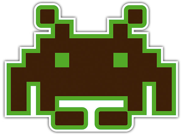 Pegatinas: Marciano Space invaders 0