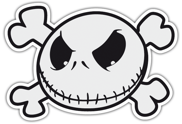 Pegatinas: Jack Skeleton Pirata