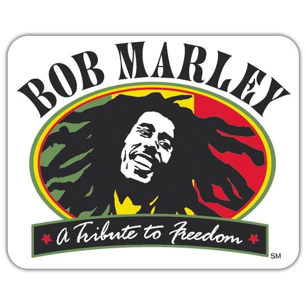 Pegatina bob marley freedom - Vinilo bob marley ...