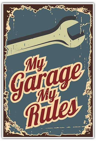 Pegatinas: My Garage My Rules