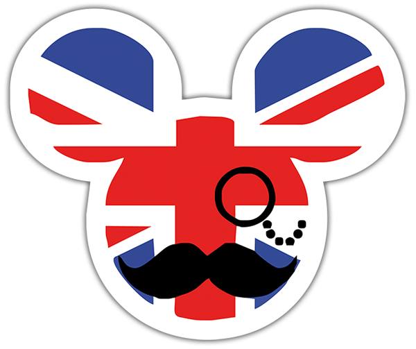Pegatinas: Great Britain Mickey Mouse